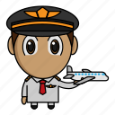 airplane, avatar, chibi, pilot, profession
