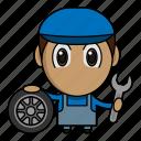 automotive, avatar, chibi, mechanic, profession icon