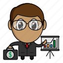 avatar, business, businessman, chibi, profession icon
