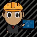 architect, avatar, chibi, construction, profession