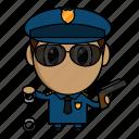 avatar, chibi, police, policeman, profession icon