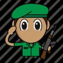 avatar, chibi, military, profession, soldier icon