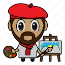 art, artist, avatar, chibi, profession icon