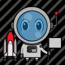 astronaut, avatar, chibi, profession, space icon