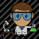 avatar, chibi, laboratory, profession, scientist icon