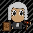 avatar, chibi, judge, judgement, profession icon
