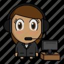 avatar, chibi, profession, suctomer service, support icon