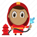 avatar, chibi, fire, firefighter, profession icon
