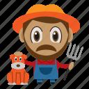 agriculture, avatar, chibi, farmer, profession icon