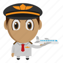 airplane, avatar, chibi, pilot, profession