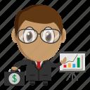 avatar, business, businessman, chibi, profession