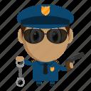 avatar, chibi, police, policeman, profession