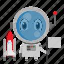 astronaut, avatar, chibi, profession, space