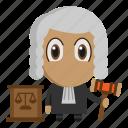 avatar, chibi, judge, judgment, profession icon