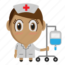avatar, chibi, medical, nurse, profession icon