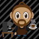 avatar, barista, chibi, coffee, profession