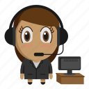 avatar, chibi, customer service, profession, support icon