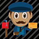 avatar, chibi, mail, postman, profession icon