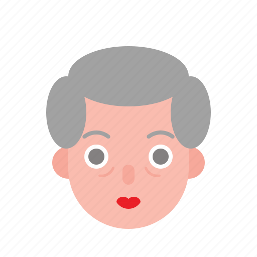 aunty, avatar, female, grandma, older, woman icon