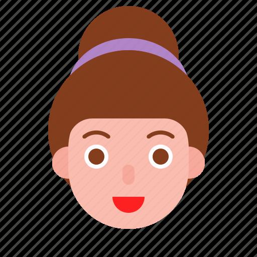 avatar, cute, female, person, teenage, woman icon