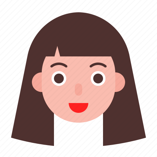 Avatar, face, girl, long hair, woman icon - Download on Iconfinder