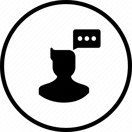 avatar, chat, communication, male, man, think, user icon
