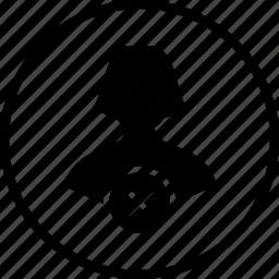 avatar, character, delete, female, remove, user, woman icon