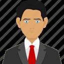 avatar, business, man, user