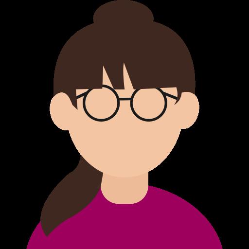 Avatar, female, girl, glasses, gloria, intelligent, smart icon - Free download