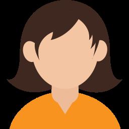 avatar, female, girl, glasses, gloria, intelligent, smart icon