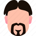 authoritative, avatar, beard, character, mustache, old icon