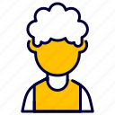afro, avatar, female, man, user icon