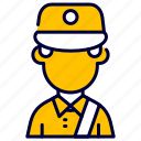 avatar, courier, delivery, man, messenger, package icon