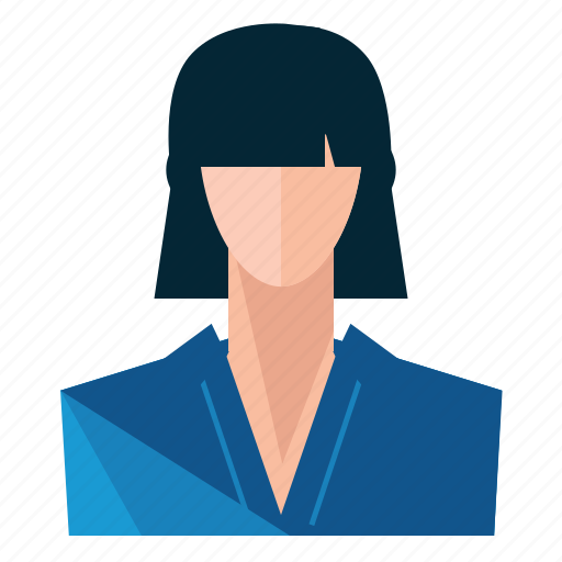 account, asian, avatar, person, profile, user, woman icon