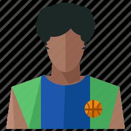 account, avatar, basketball, man, person, profile, user icon