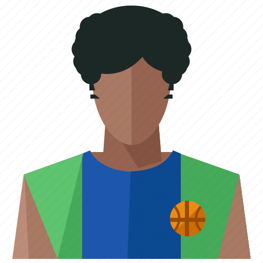 account, avatar, basketball, man, person, profile, user icon