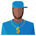 account, avatar, gangster, man, person, profile, user icon