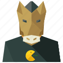 avatar, horse, man, person, profile, user icon