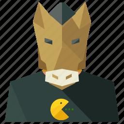 avatar, horse, man, person, profile, user icon