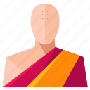 avatar, male, man, monk, profile, user icon