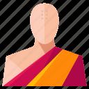 avatar, male, man, monk, profile, user icon