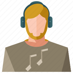 account, avatar, man, music, people, person, user icon