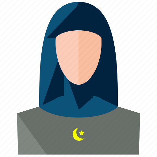 account, avatar, muslim, person, profile, user, woman icon