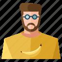 avatar, man, nerd, people, person, profile, user icon