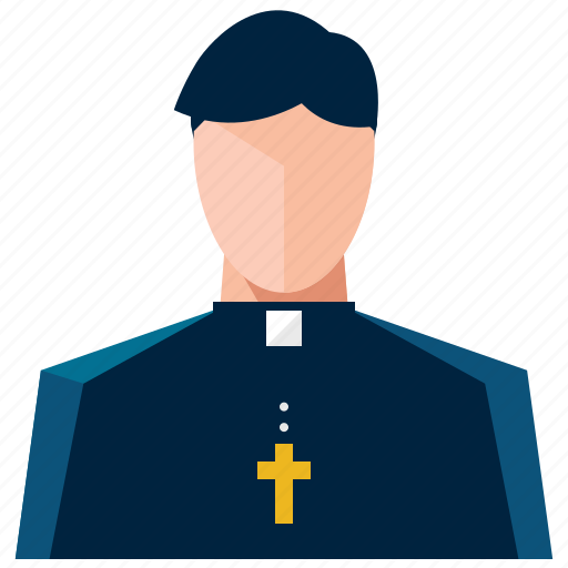 account, avatar, man, person, priest, profile, user icon
