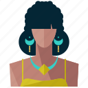 avatar, female, profile, tribal, user, woman icon