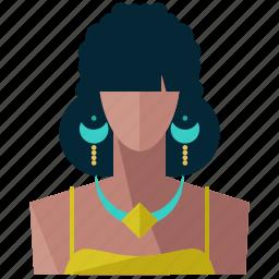 avatar, female, profile, tribal, user, woman icon