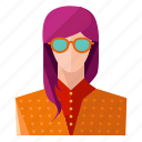 avatar, girl, hipster, man, person, profile, user icon