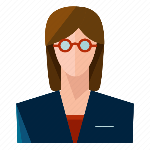 avatar, businesss, glasses, user, woman, women icon