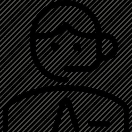 man, professions, telecommunicator icon